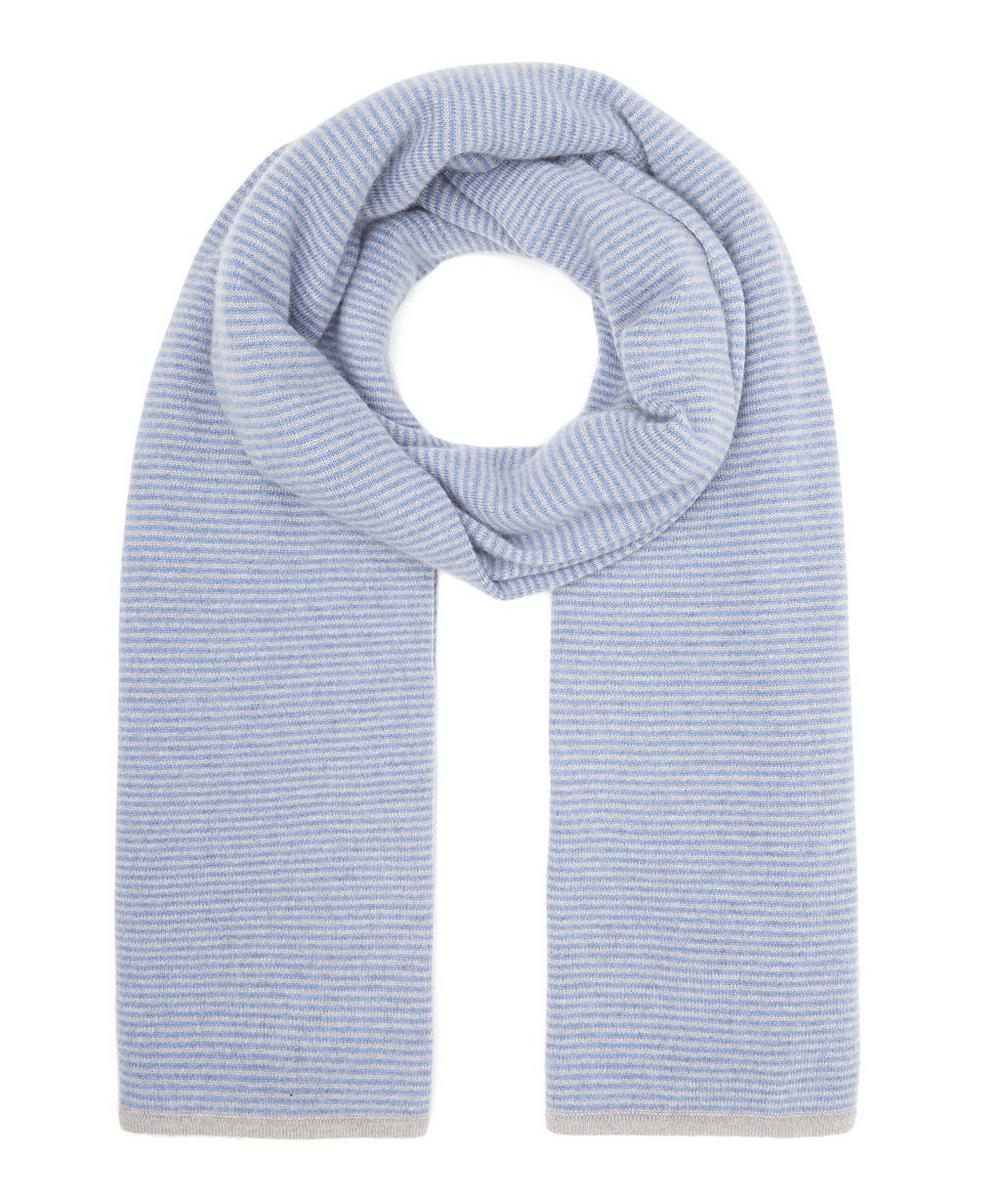 Knitted Stripe Cashmere Pashmina