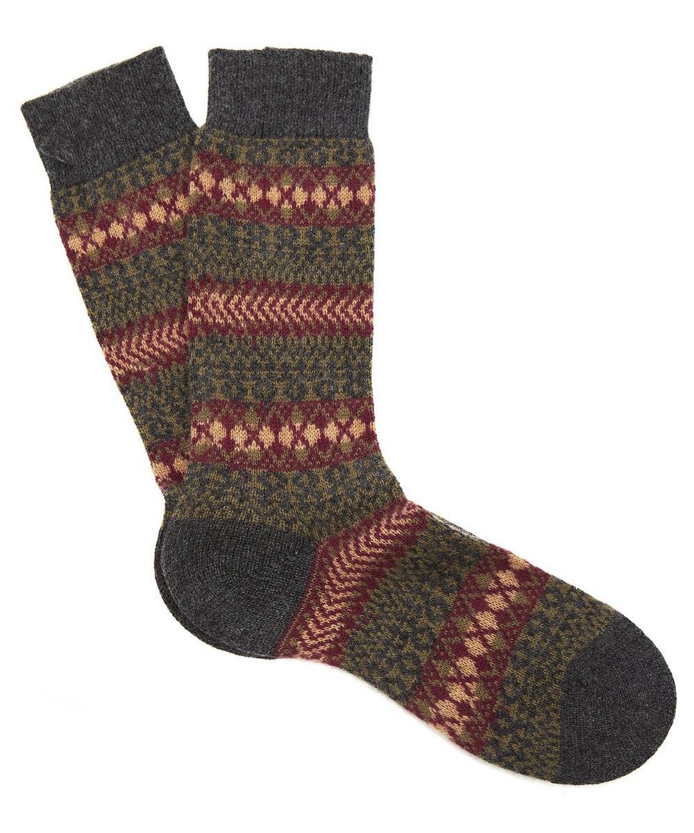 Mapperton Fairisle Cashmere Socks