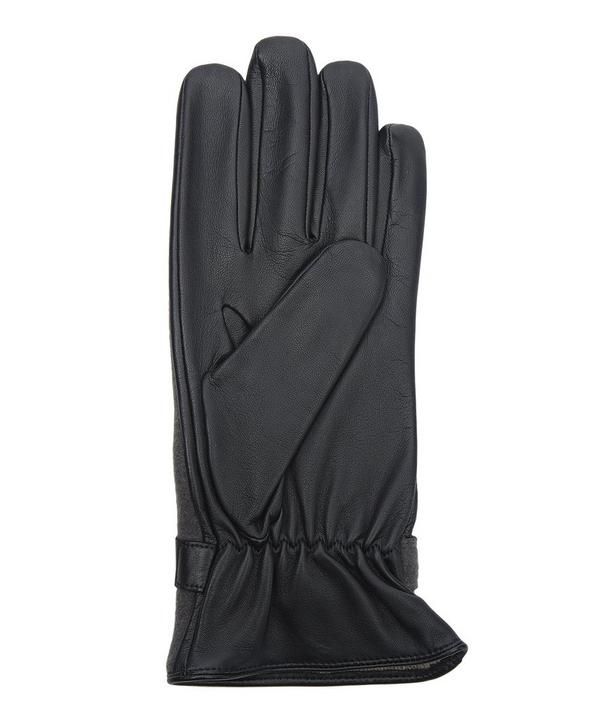 Fleece and Leather Gloves