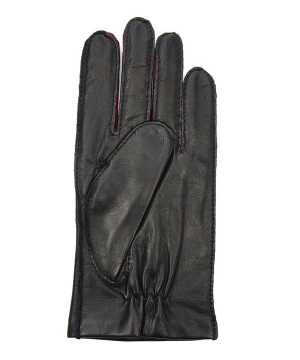 Contrast Leather Gloves