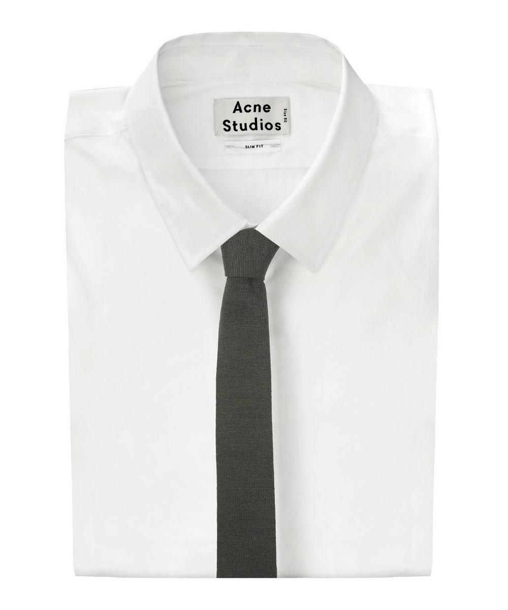 Plain Fine Wool Knit Tie