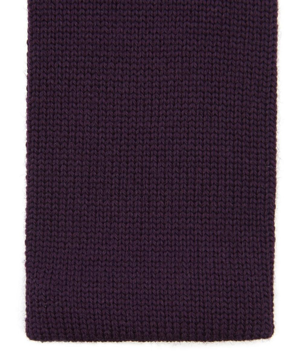 Plain Fine Wool Knit Tie