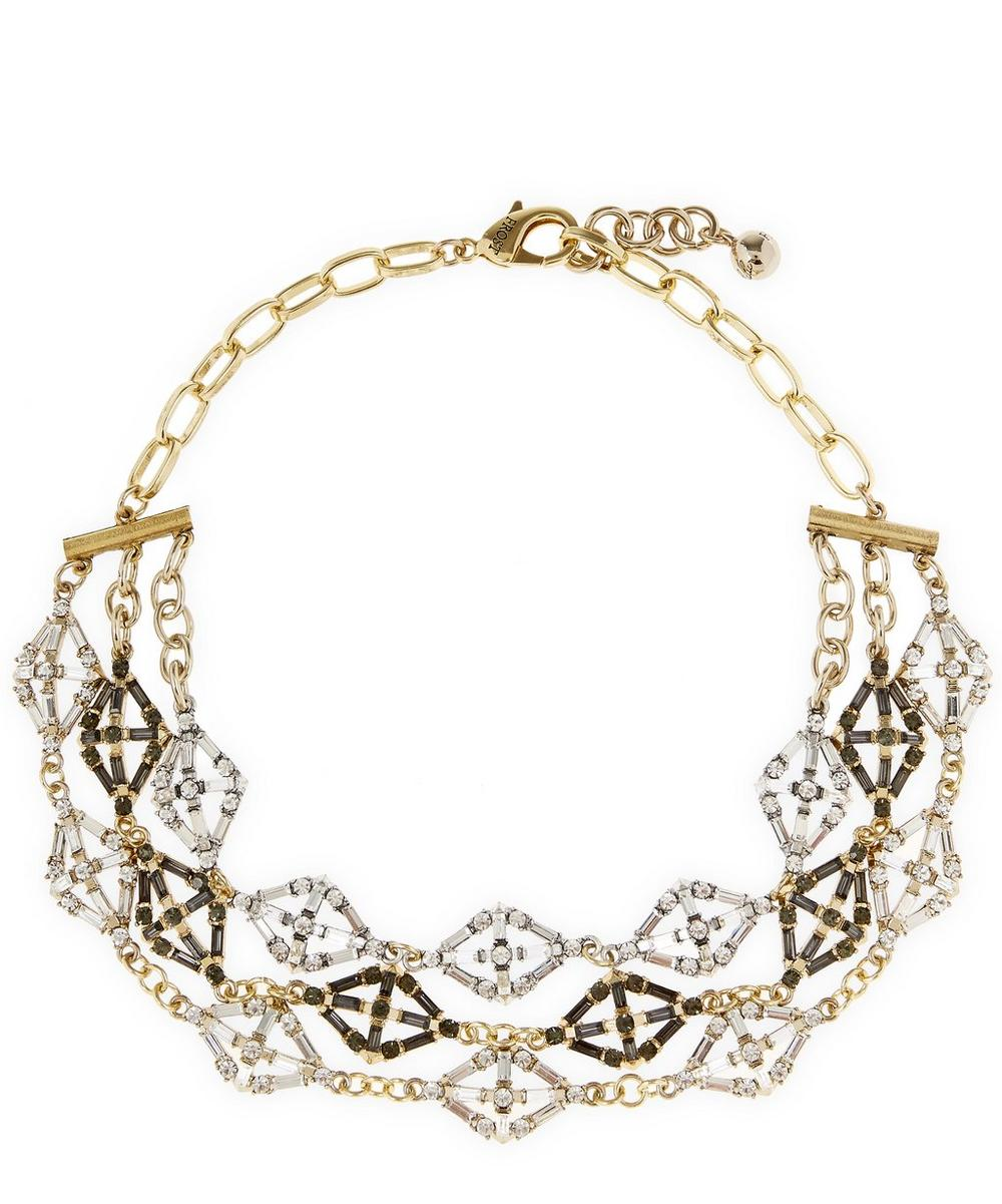 Gold-Plated Cosmos Sculptural Choker Necklace