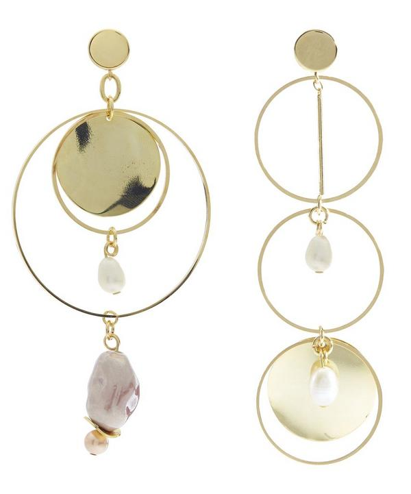 Gold-Plated Corona Freshwater Pearl Earrings