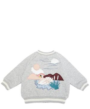 Swan Patch Bomber Jacket 6-24 Months