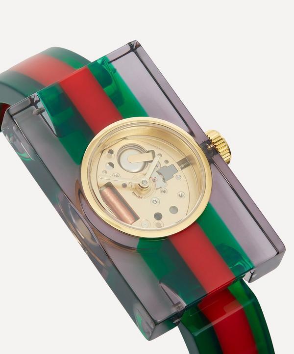 Vintage Web Plexiglas Stripe Motif Watch