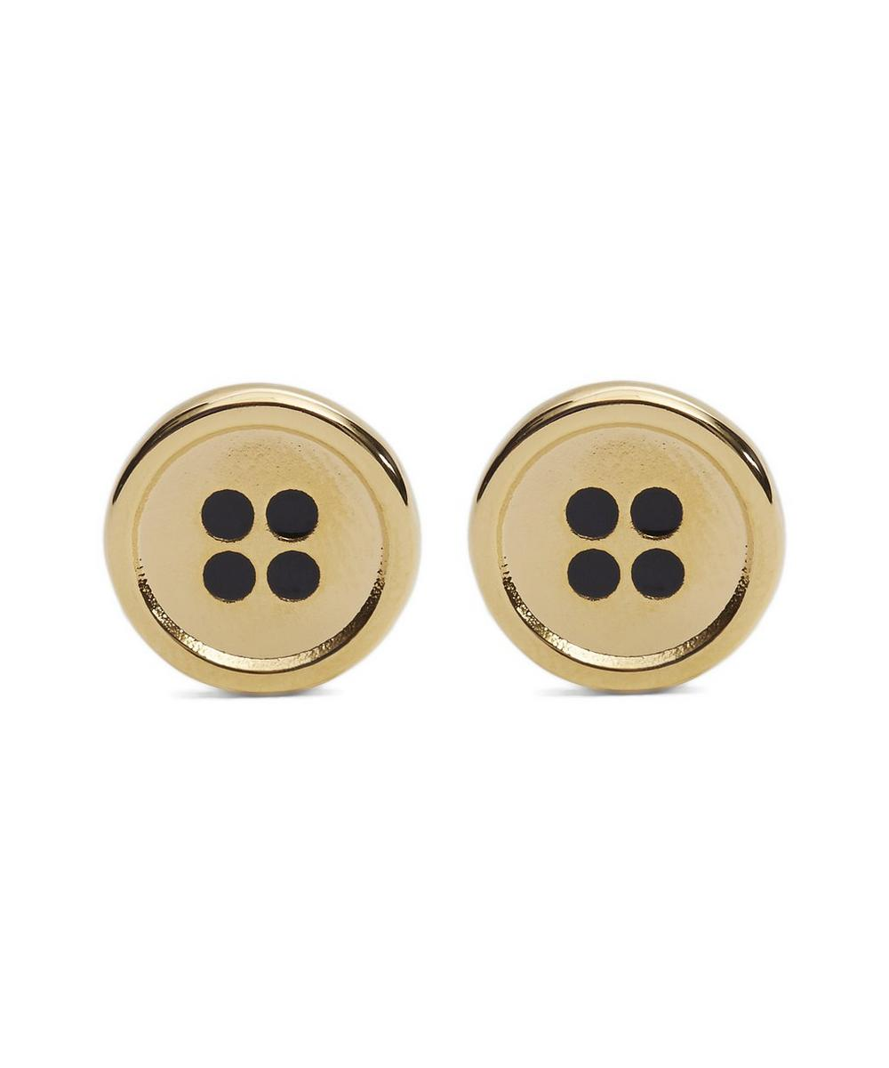 Golden Button Cufflinks