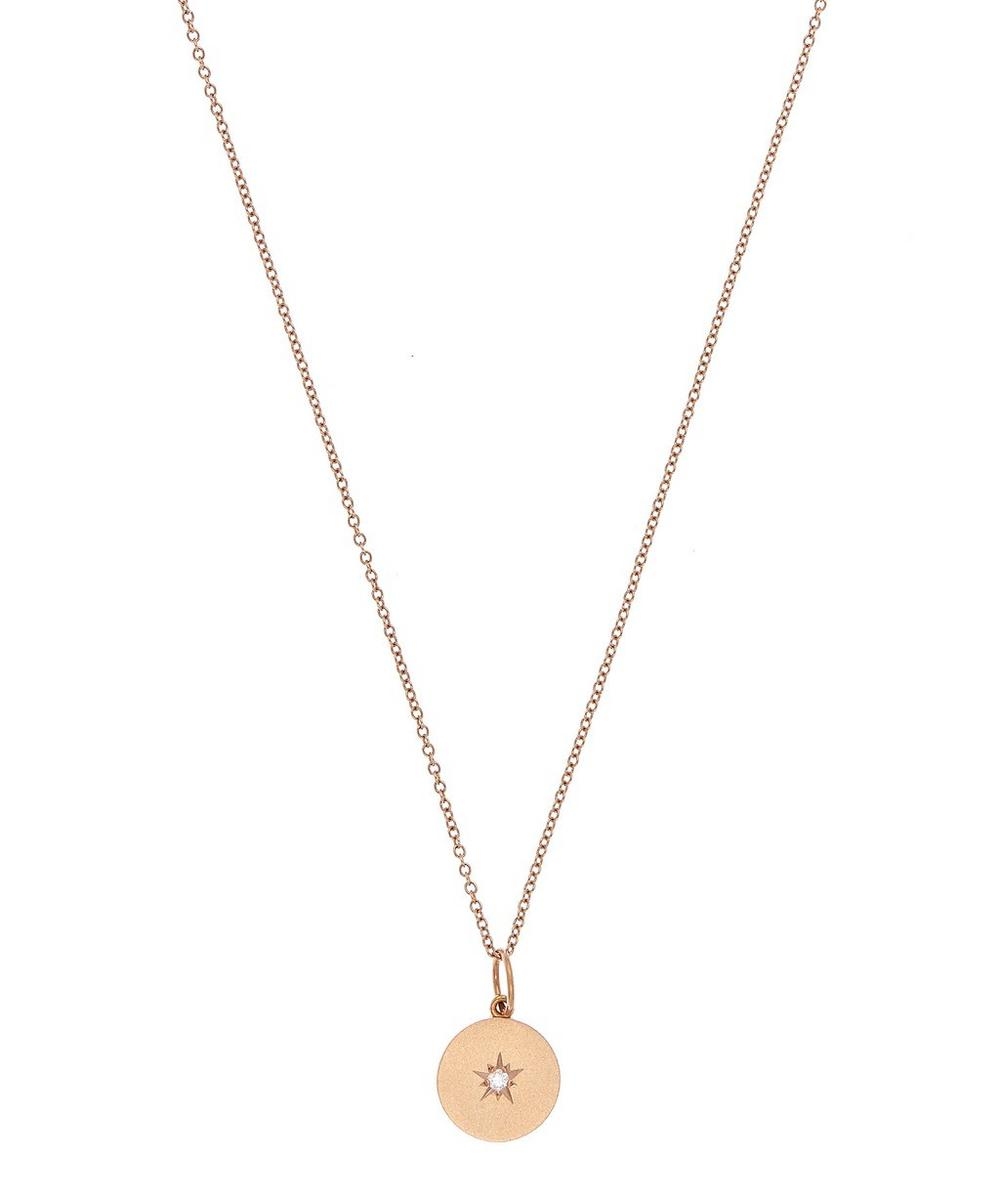 Rose Gold Full Moon Diamond Phases Necklace