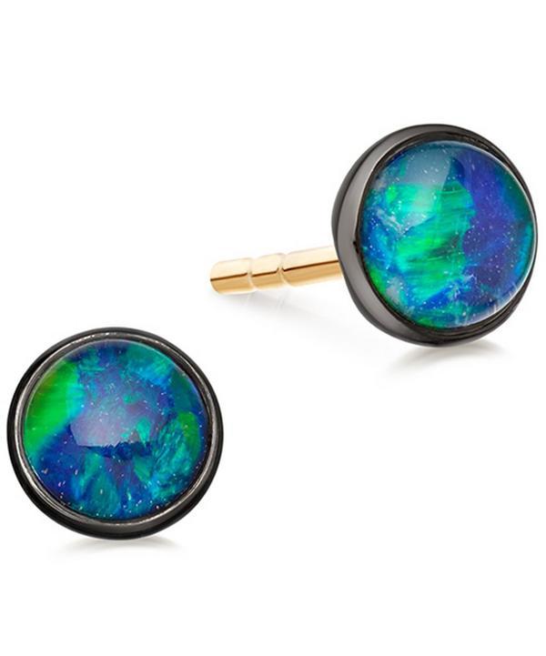 Opal Uranus Stud Earrings
