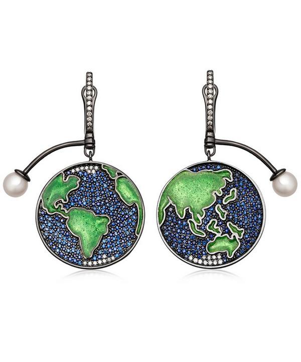 Sapphire Earth Drop Earrings