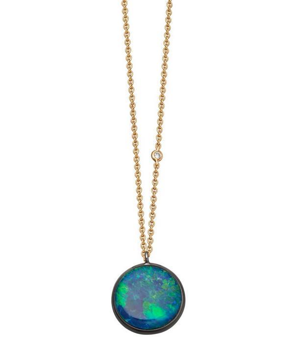 Opal Uranus Pendant Necklace