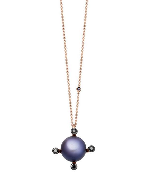 Black Pearl Pluto Pendant Necklace