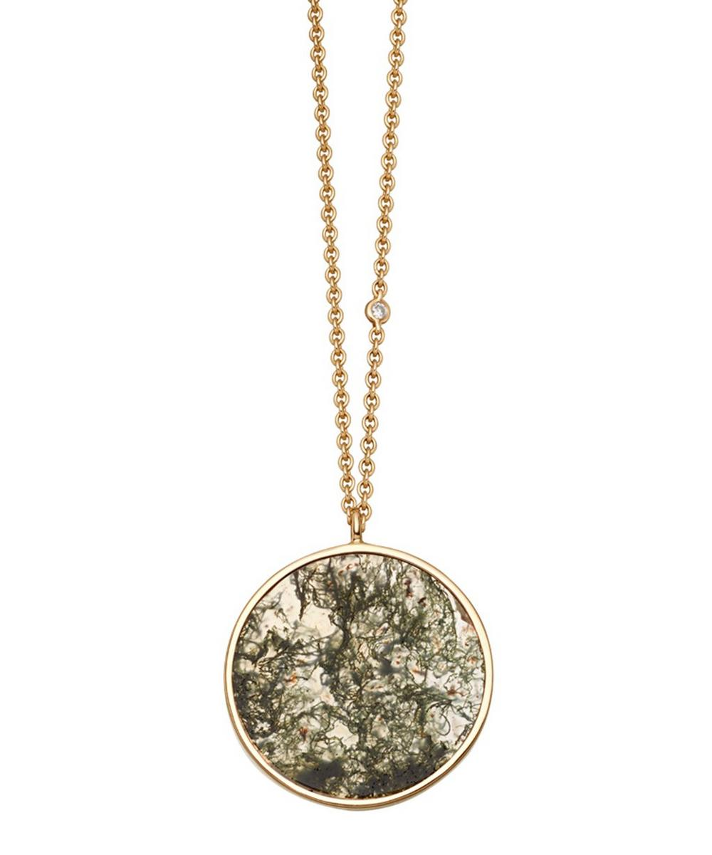 Moss Agate Venus Pendant Necklace