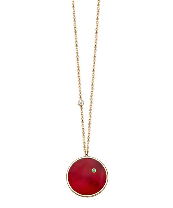 Ruby Mars Pendant Necklace
