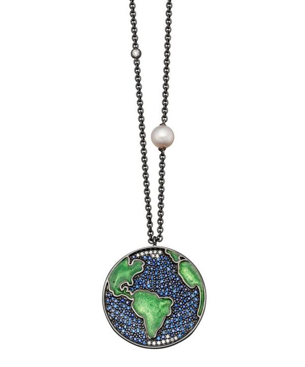 Sapphire Earth Western Pendant Necklace