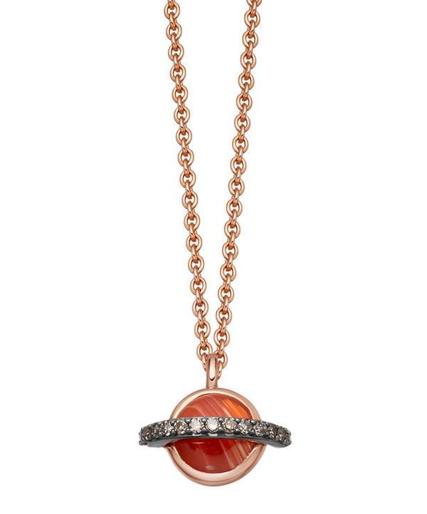 Agate Mini Saturn Pendant Necklace