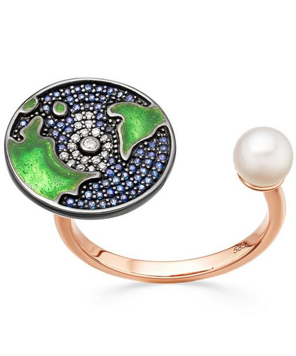 Sapphire Earth Open Ring