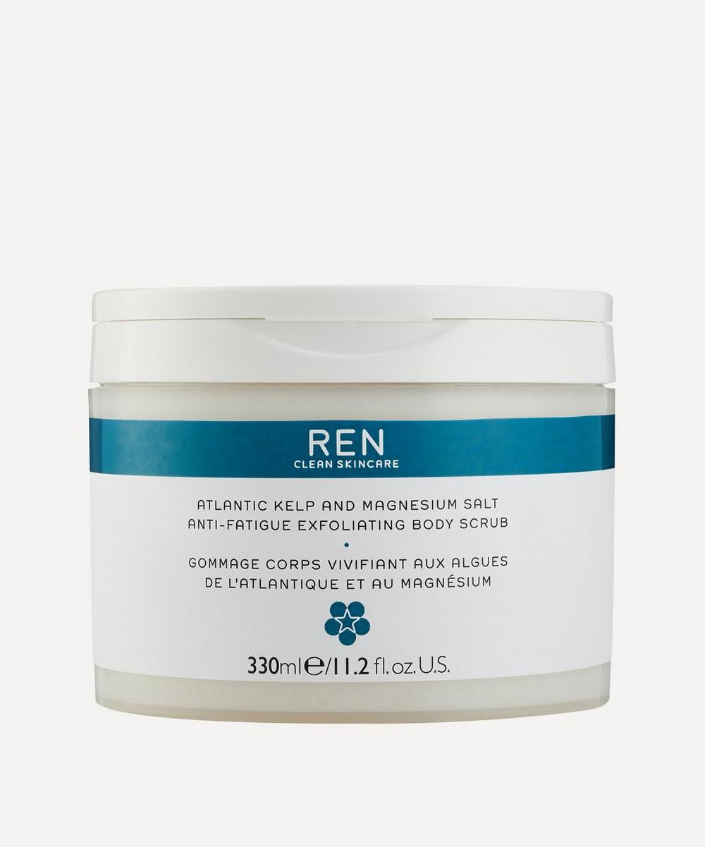 REN ATLANTIC KELP AND MAGNESIUM SALT ANTI-FATIGUE EXFOLIATING BODY SCRUB 330ML