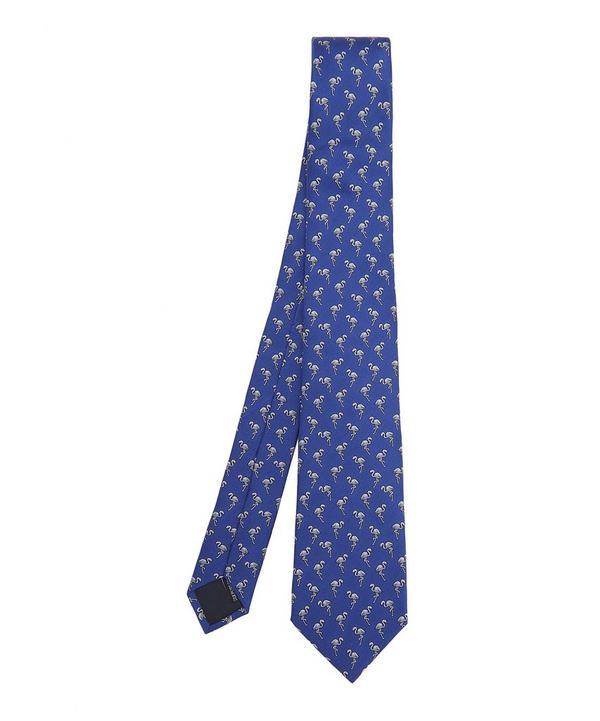 Flamingo Print Tie