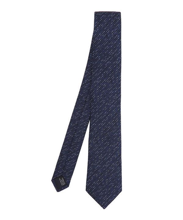 Horizontal Line Melange Tie