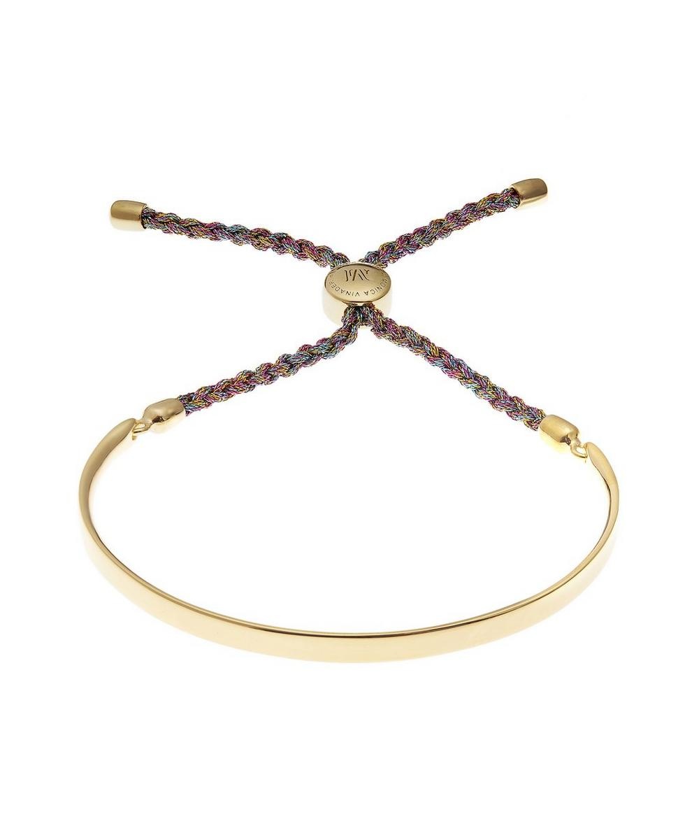 Gold-Plated Fiji Metallica Cord Friendship Bracelet