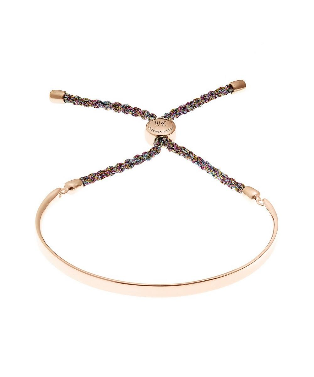 Rose Gold-Plated Fiji Metallica Cord Friendship Bracelet