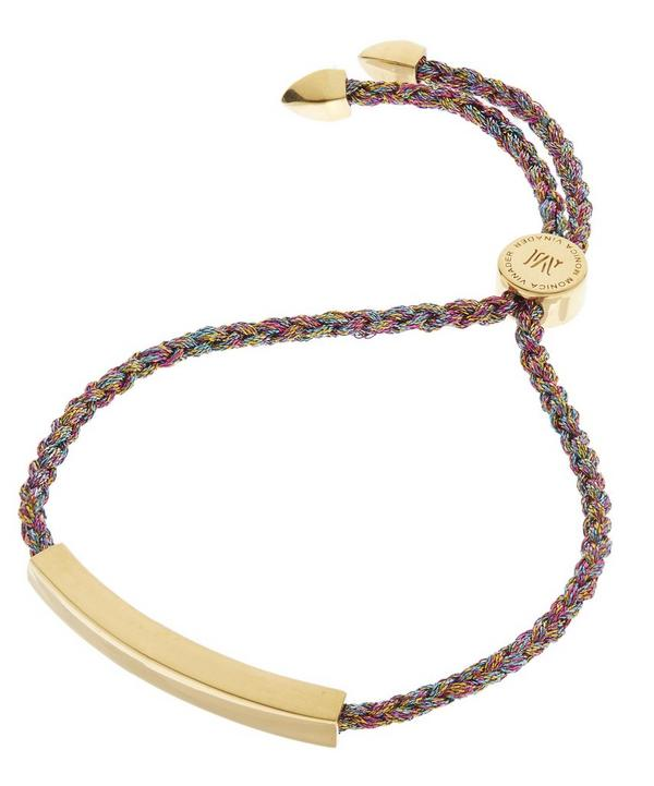 Gold-Plated Metallica Cord Linear Friendship Bracelet