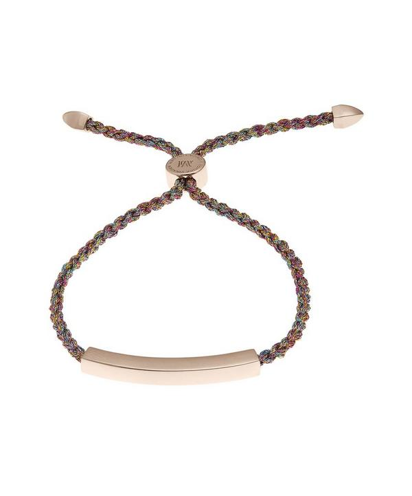 Rose Gold-Plated Linear Metallica Cord Friendship Bracelet