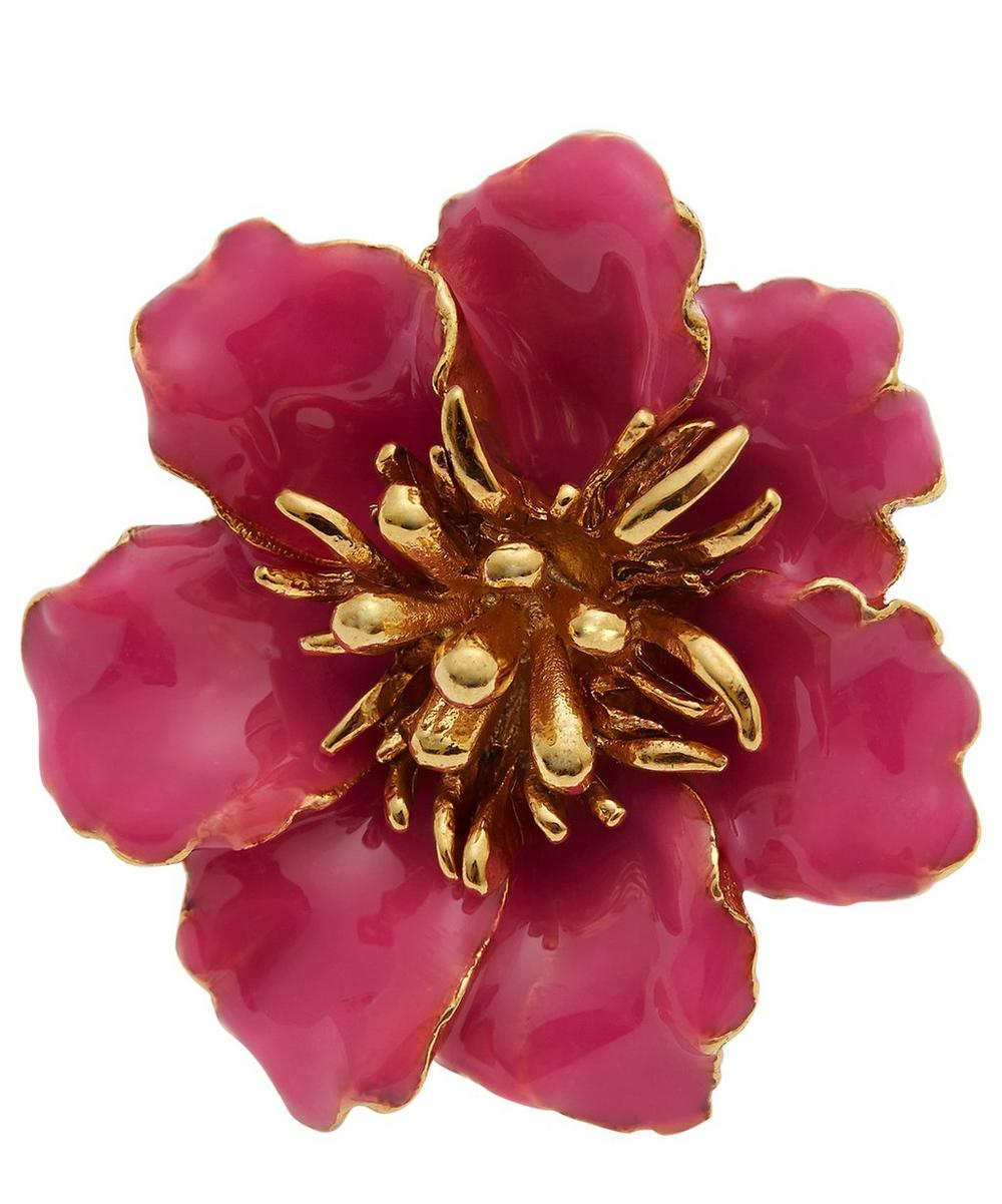Gilded Resin Floral Ring