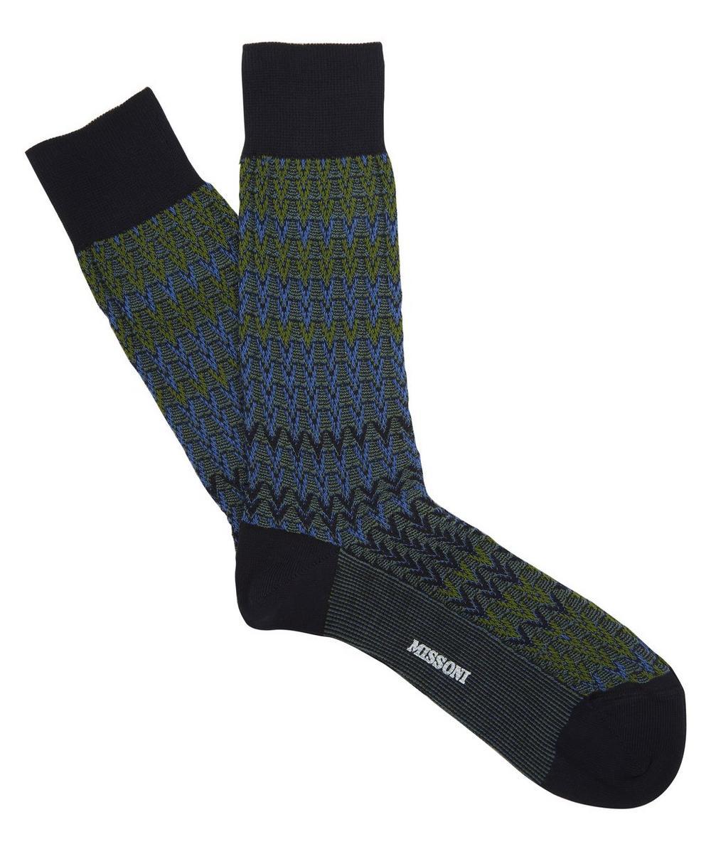 Block Arrows Ankle Socks
