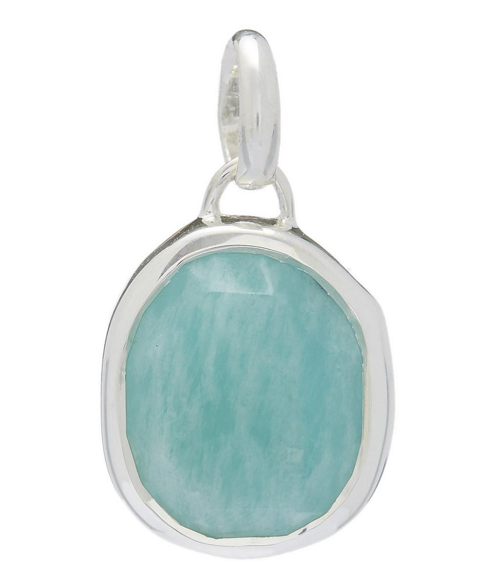 Silver Siren Amazonite Medium Bezel Pendant
