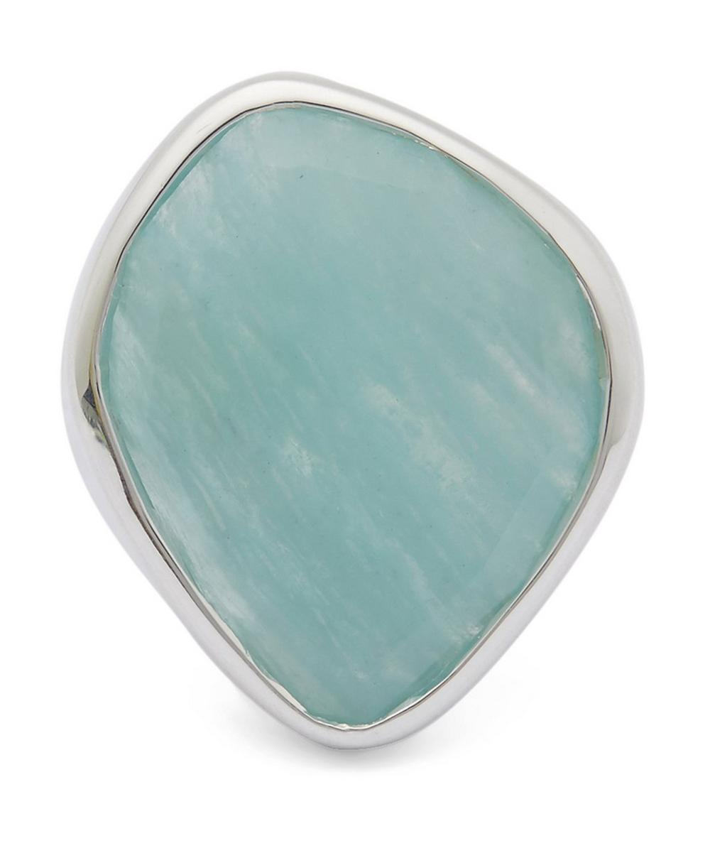Silver Amazonite Siren Nugget Ring