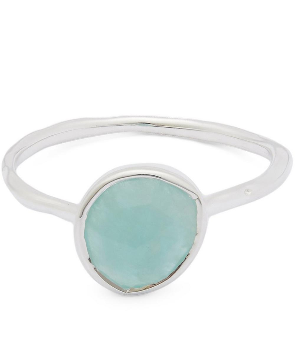 Silver Amazonite Siren Stacking Ring