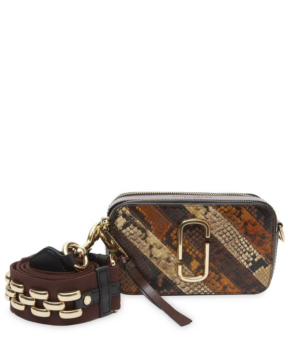Patchwork Snake Snapshot Cross Body Bag