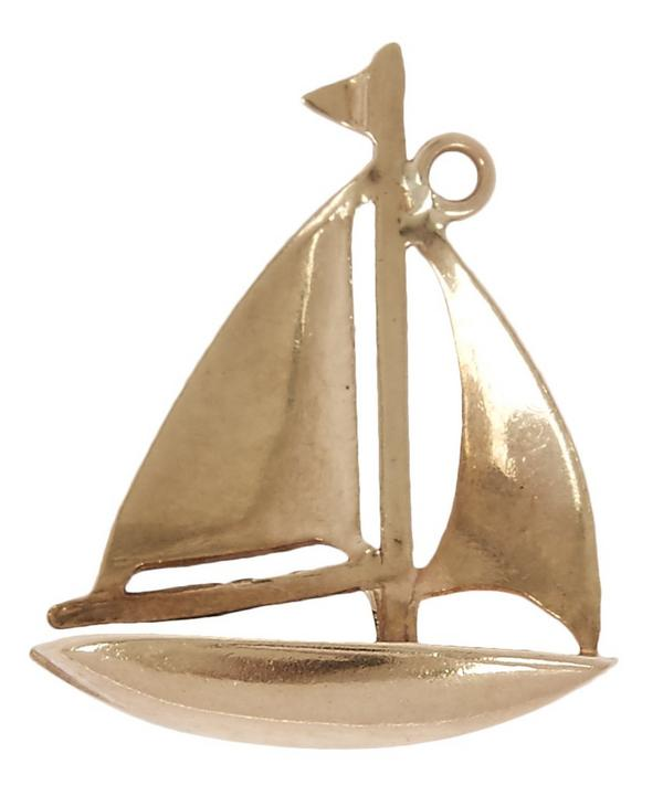 Gold Sailboat Charm