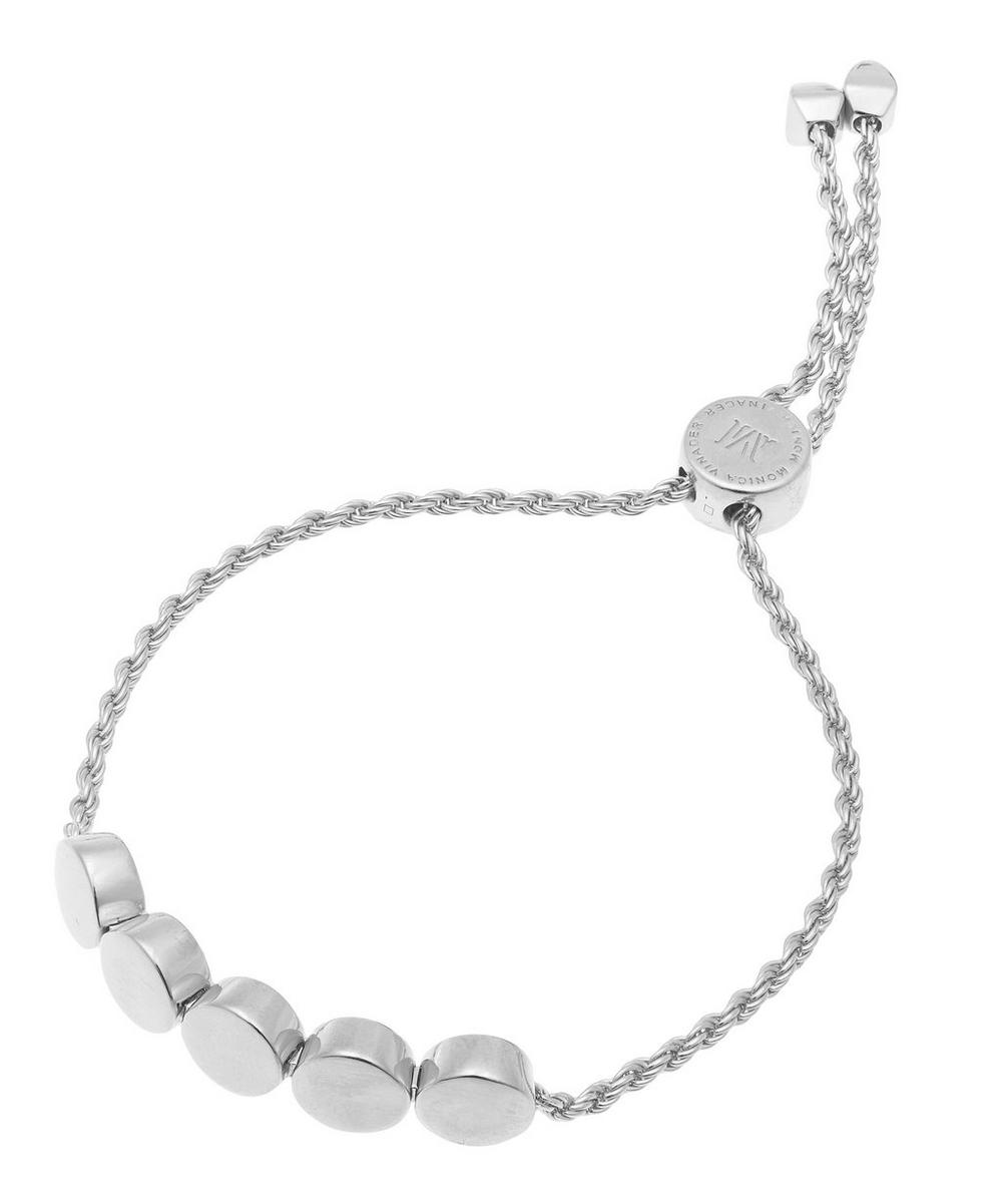 Silver Linear Bead Chain Friendship Bracelet