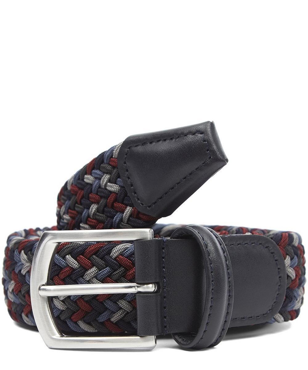 Multi Colour Zig Zag Woven Belt