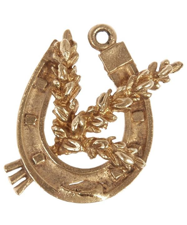Gold Wheat Horseshoe Charm