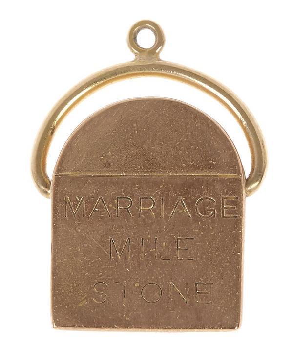 Gold Marriage Milestone Charm