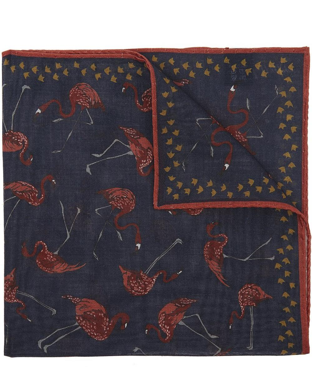 Flamingo Wool Pocket Square