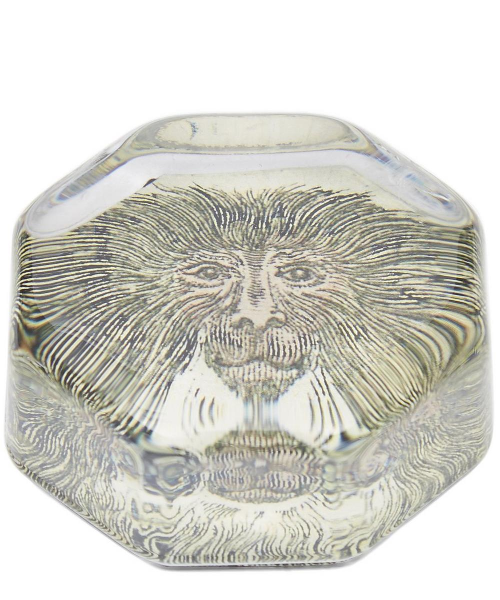 Lion Tail Monkey Octagonal Paperweight