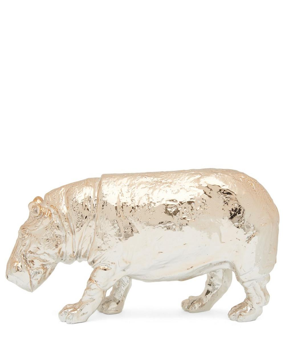 Gold Hippo Paperweight