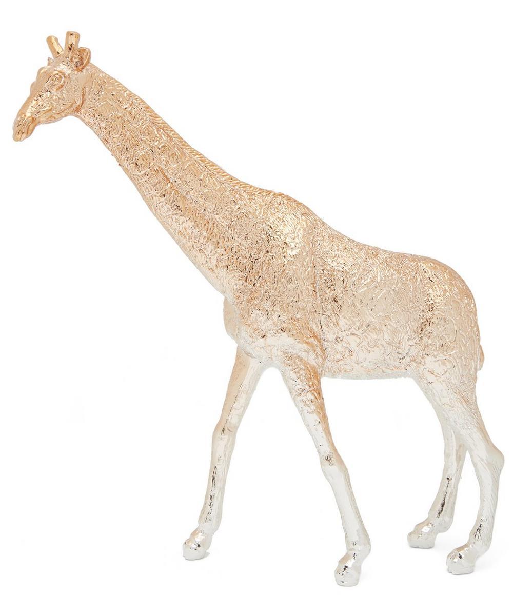 Gold Giraffe Paperweight