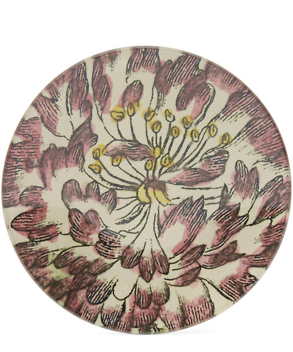 Pink-Tipped Rose Small Round Plate
