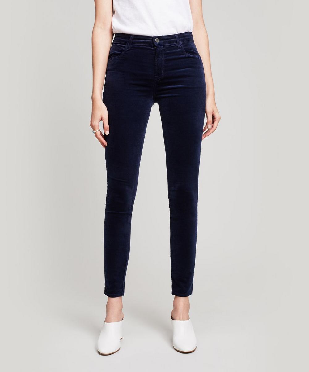 Maria High-Rise Velvet Trousers