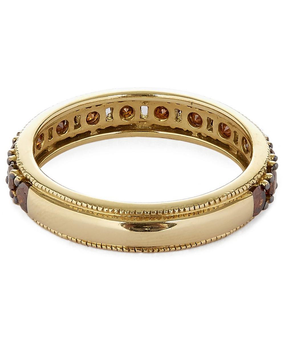 18ct Yellow Gold Dusty Diamond Eternity Ring