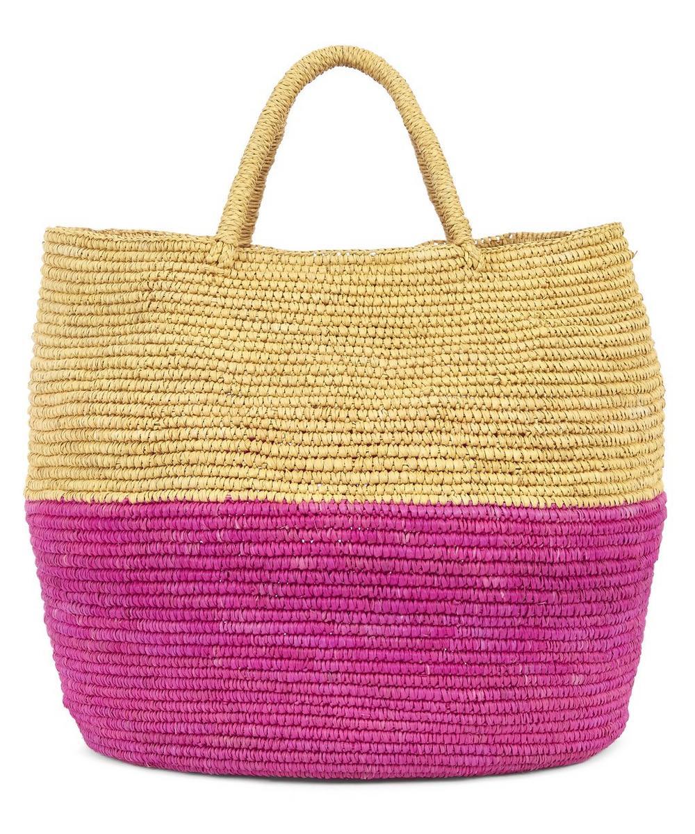 Bahia Two-Tone Basket Tote Bag