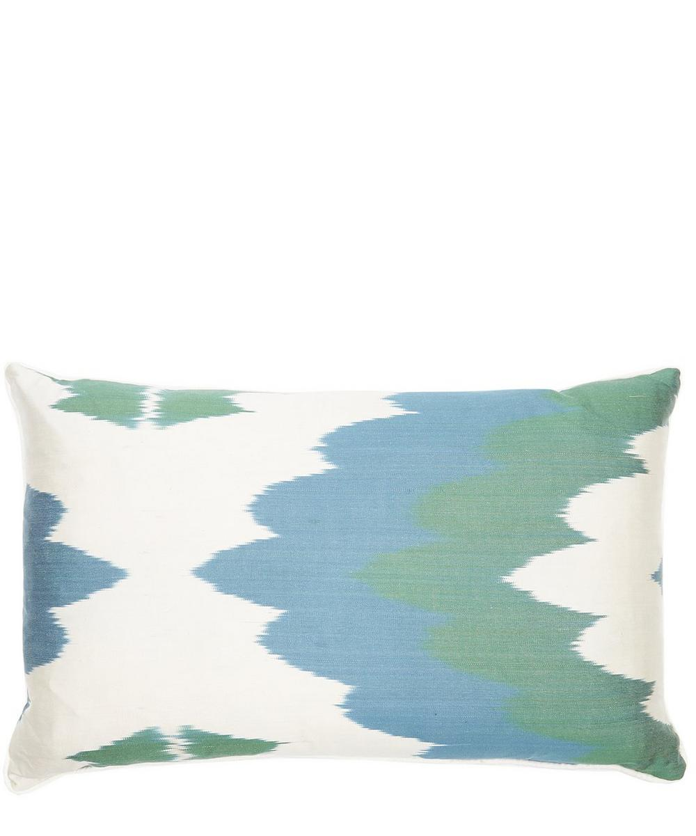 Waves Ikat Cushion