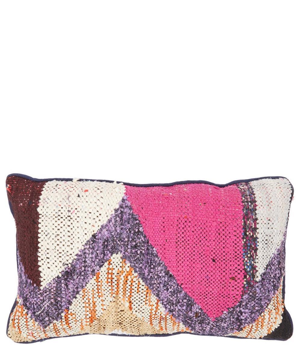 Vintage Boucherouite 30 x 50cm Cushion