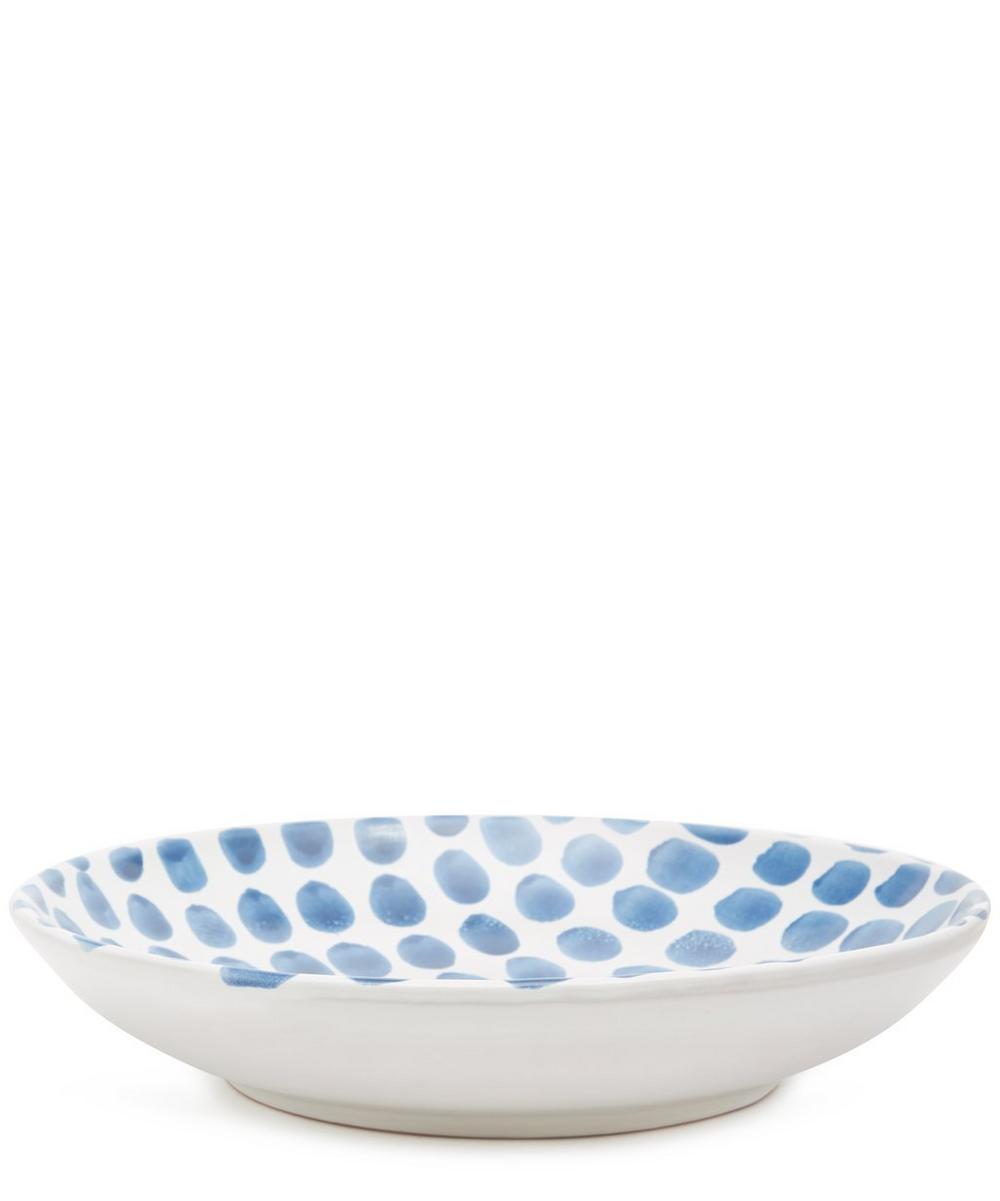 Blue Fresco Large Dots Salad Bowl